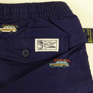 Polo Ralph Lauren Woodie Wagon Swim Trunks NWT